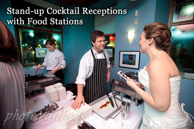 Stand-up Cocktail Receptions with Food Stations